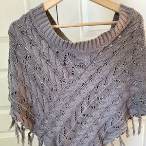 Mudd Off-the-Shoulder Sweater Poncho